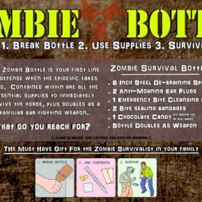 Kit de Sobrevivência Apocalipse Zumbi - The Zombie Survival Bottle