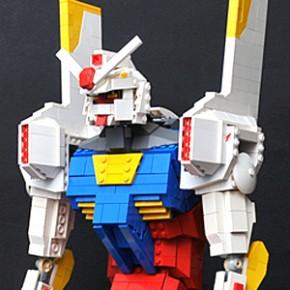 EVA-Gundam - Mecha Híbrido em LEGO