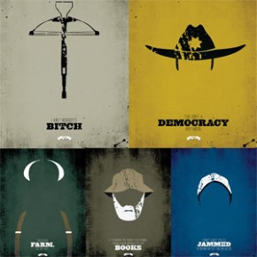 The Walking Dead - Pôsters Minimalistas