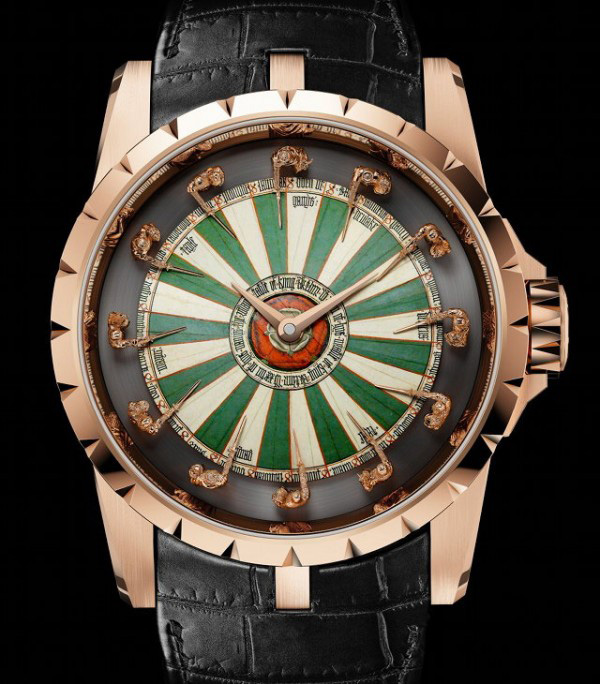 Rel gio dos cavaleiros da t vola redonda - Roger dubuis knights of the round table watch ...