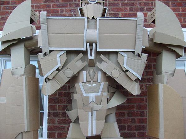Transformers optimus prime gigante de papelão