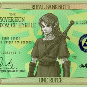 The Legend of Zelda - Rupees em Papel-Moeda!