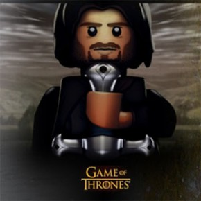 "Game of Thrones - LEGO Customizado e Brasões das ""Casas da Internet"""