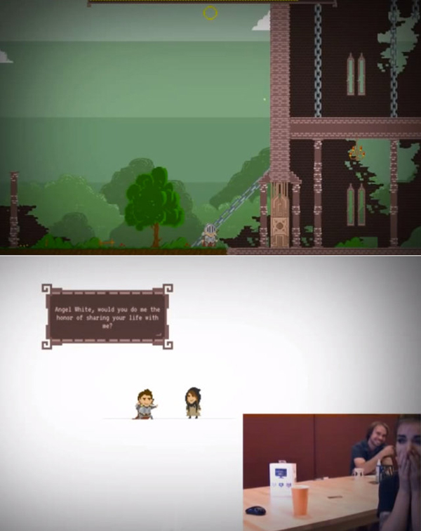 Pixel Proposal pedido de casamento em game