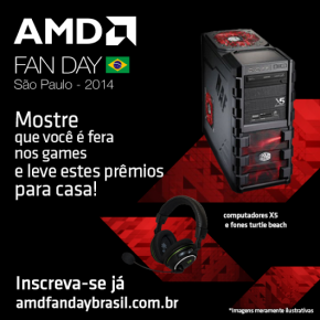AMD Fan Day – Evento de games e tecnologia é neste sábado!