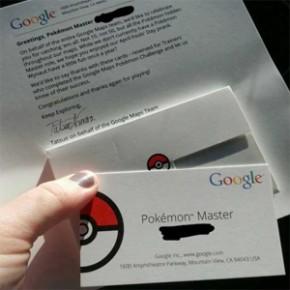 Google envia certificados de Mestre Pokémon!