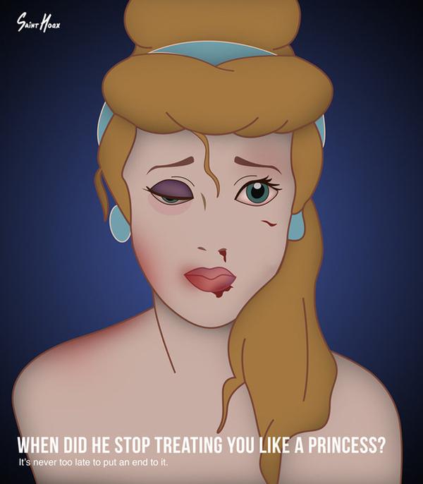 Princesas da Disney Violência Doméstica