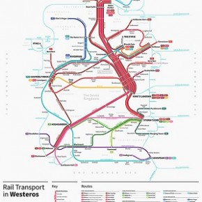 Game of Thrones - Mapa Ferroviário de Westeros