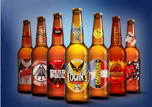 Cervejas Marvel e DC