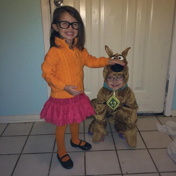 Fantasia Criança Velma e Scooby Doo