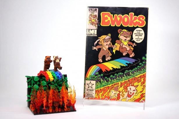 Capa de Ewoks com LEGO