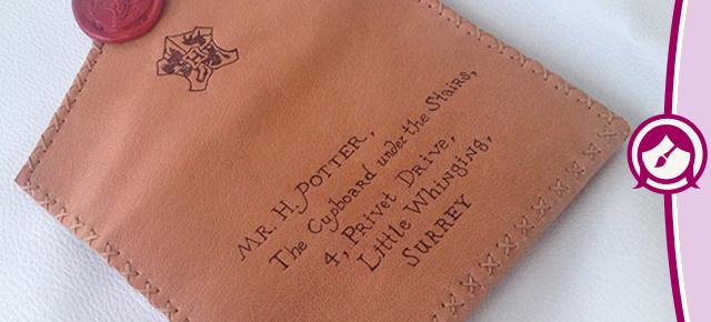 Harry Potter - Carteira Inspirada na Carta de Hogwarts