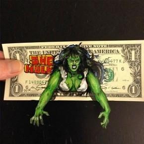 Ilustrações em Notas de Um Dólar