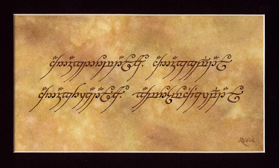 Daniel Reeve a caligrafia da Terra Média