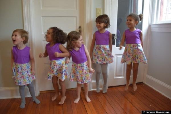 Linha de roupas Princess Awesome