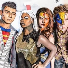 Maquiagem realista de Super-Heróis com pinturas corporais