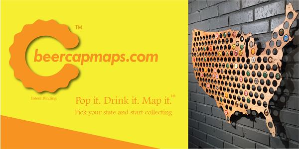Beer Cap Maps - Mapa cerveja