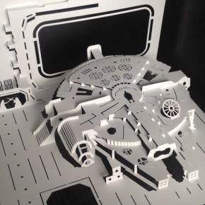 Kirigami: Cenas de Star Wars detalhadamente recortadas em folhas de papel
