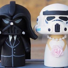 Casamento nerd: noivinhos para bolo de casamento