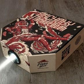 Nova caixa da Pizza Hut se transforma em projetor para smartphone