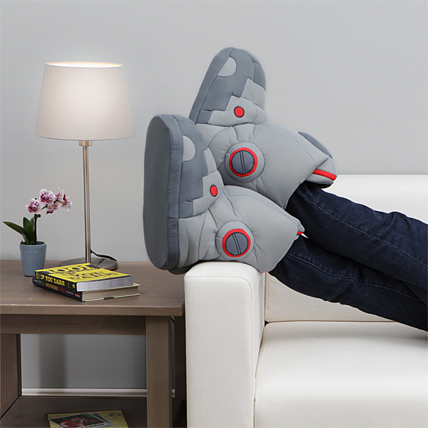 153b_giant_robot_slippers_with_sound_in_use