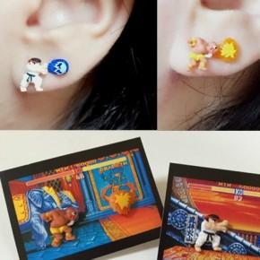 Brincos de Street Fighter inspirados em Ryu e Dhalsim