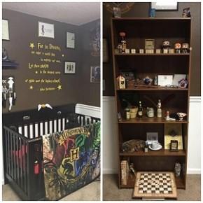 Casal cria quarto de bebê com decoração inspirada em Harry Potter