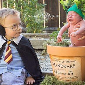 Casal faz ensaio de bebê inspirado em Harry Potter