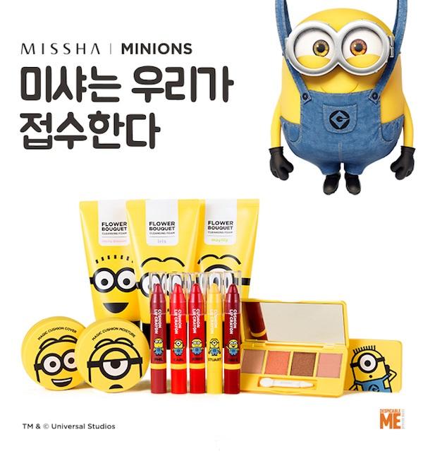Missha maquiagem Minions