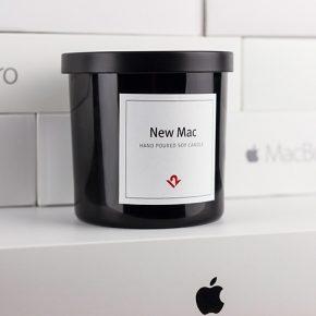 Vela aromática cheira Mac novo da Apple