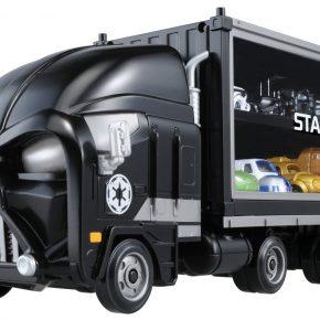 Kit com caminhões de brinquedos inspirados em Star Wars