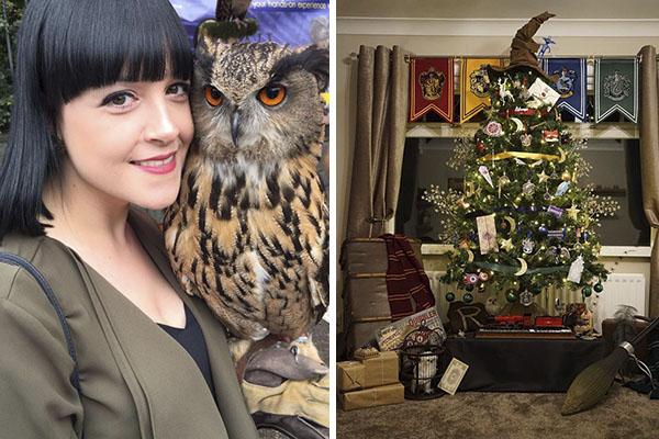 Fã cria árvore de Natal temática Harry Potter