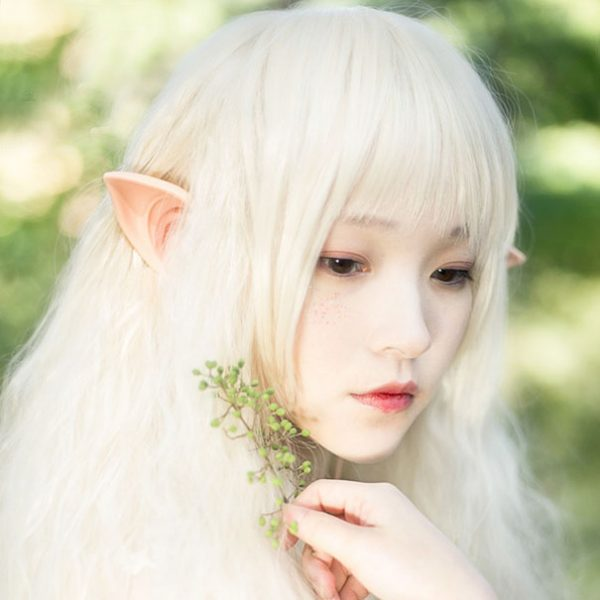 Fone de ouvido com orelhas de elfo