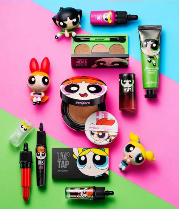 Coleção de maquiagem As Meninas Super Poderosas