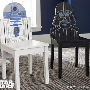 Móveis Star Wars: Estante AT-AT e cadeiras Darth Vader e R2-D2