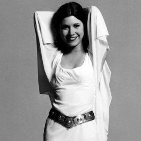 Primeira audição de Carrie Fisher para o elenco de Star Wars