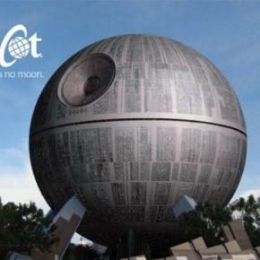 Assista a transformação da Spaceship Earth em Estrela da Morte
