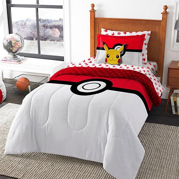 Conjunto de cama paras os fãs de Pikachu