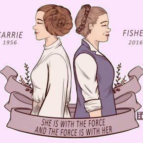 Fãs ao redor do mundo enviam ilustrações em homenagem a Carrie Fisher