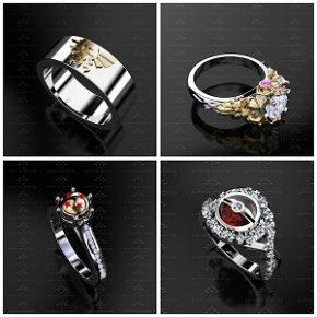 Estúdio especializado em joias cria coleção de alianças nerds