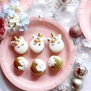 Macarons lindos para os fãs de unicórnios