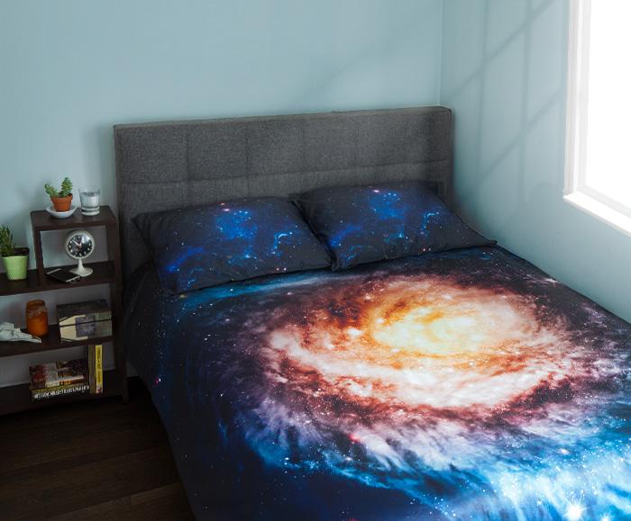 Conjunto de cama galáxia espiral