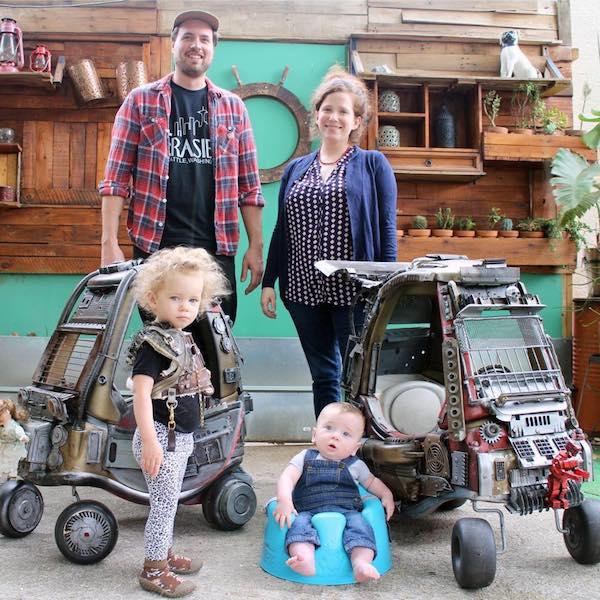 Casal cria carrinhos inspirados em Mad Max: Estrada da Fúria