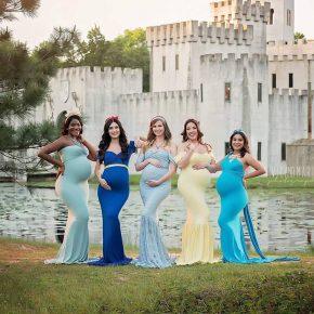 Grupo de amigas faz ensaio fotográfico materno inspirado em Princesas da Disney