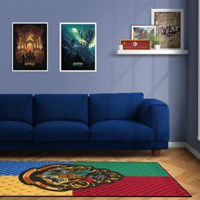 Decore sua sala com lindo tapete de Hogwarts