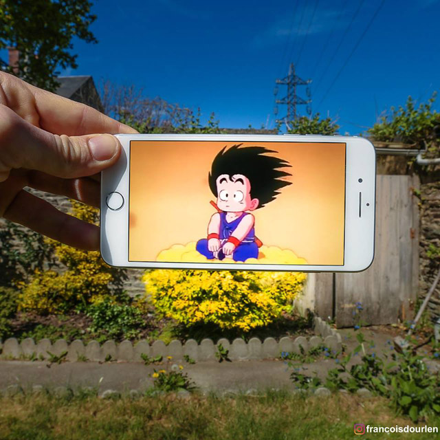 Fotógrafo francês insere personagens de Dragon Ball Z na vida real
