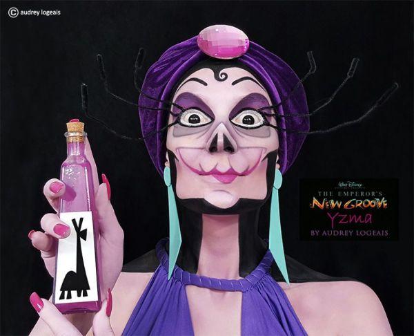 Maquiadora francesa transforma modelos em vilões da Disney