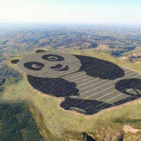 Usina solar em formato de panda: projeto chines promove energia sustentável
