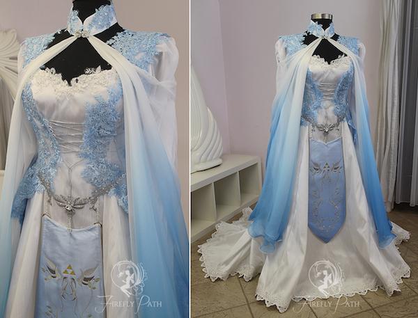 Vestido de casamento inspirado em The Legend of Zelda
