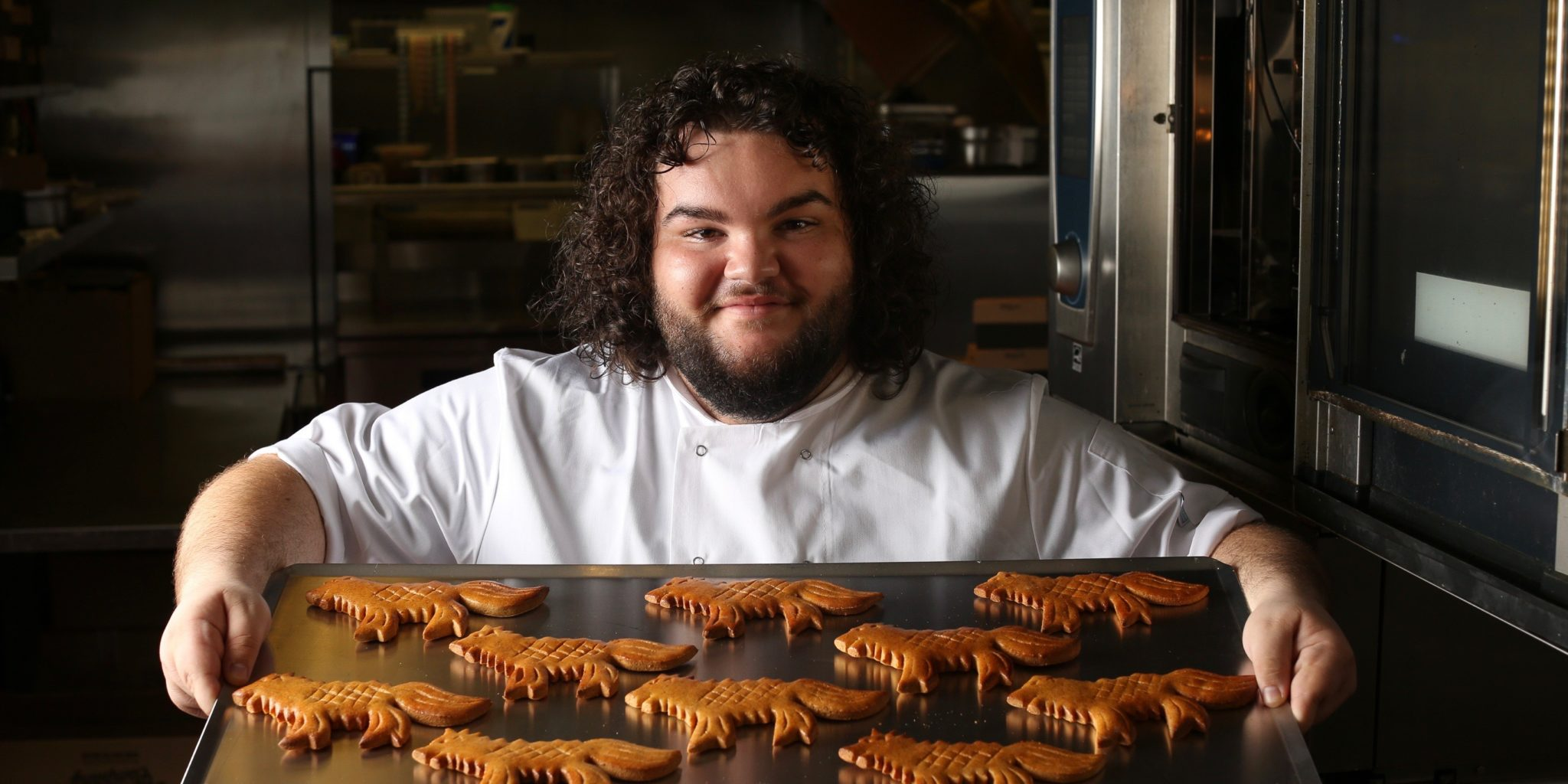 Hot Pie de Game of Thrones abre padaria com Direwolf Bread